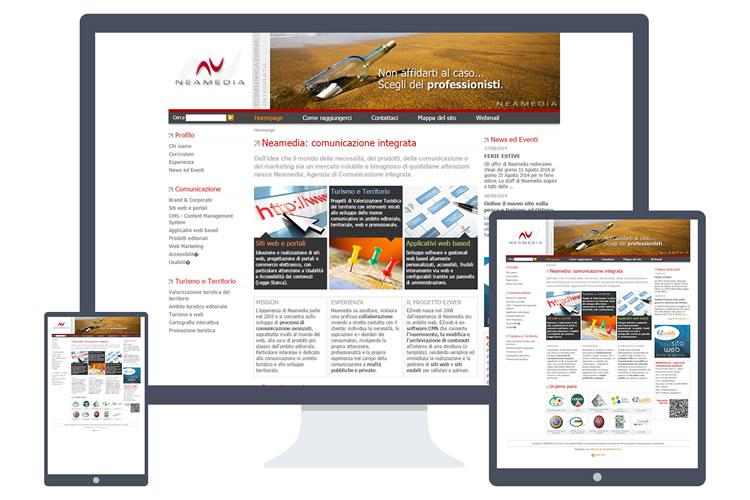 Esempio di sito realizzato in grafica tradizionale