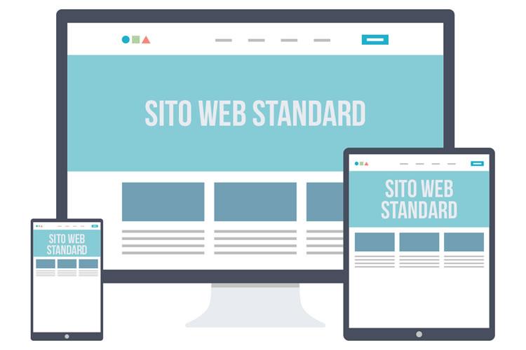 Esempio di layout di sito web tradizionale