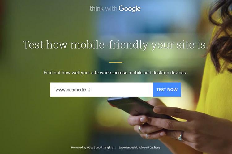 Analisi del sito web mobile